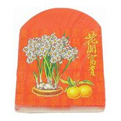 25 Flower Design Red Envelopes (Lai See)