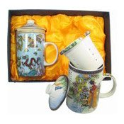 Porcelain Tea Set (春天仕女茶杯)