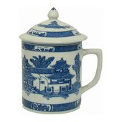 Mug With Lid (Traditional Blue) (藍寶塔茶杯連蓋)