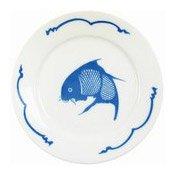 23cm Dinner Plate (Fish Pattern) (藍魚平碟)