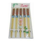 23cm Wooden Chopsticks (5 Pairs) (筷子)