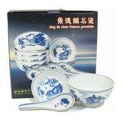 Porcelain Rice Bowl, Plate & Spoon Set (碗匙套禮包)