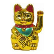 Golden Lucky Cat With Waving Paw