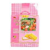 Strawberry Flavour Cream Sandwich Biscuits (草莓味餅乾)