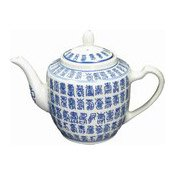 Large 1l Teapot (Blue Chinese Characters) (茶壺)