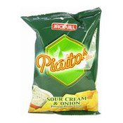 Piattos Sour Cream & Onion Flavoured Potato Chips (Crisps) (薯片)