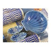 Royal Blue Shell Dining Set (4 Place Settings) (藍色筷子套禮包)