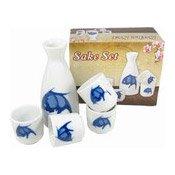 Sake Gift Set (Fish Pattern) (藍魚清酒套裝)