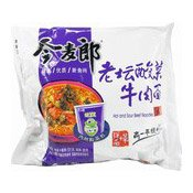 Big Pack Instant Noodles (Hot & Sour Beef) (今麥郎酸菜牛肉麵)