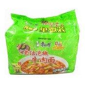 Instant Noodles Multipack (Pickled Pepper Beef) (康師傅泡椒牛肉麵)