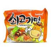 Instant Noodles Beef Ramen (Hot Flavour Sogokimyun) (三養牛肉麵)