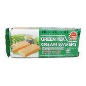 Green Tea Cream Wafers (義美綠茶夾心餅)