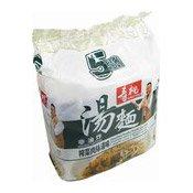 Non-Fried Noodles Multipack (Sichuan Vegetables & Shredded Pork) (壽桃榨菜肉絲湯味麵)