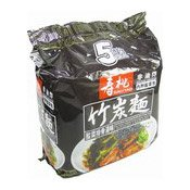 Bamboo Charcoal Noodles Multipack (Sour Pickled Vegetables & Pork Rib) (壽桃酸菜排骨湯味竹炭麵)