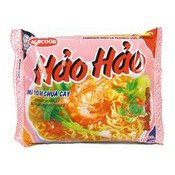 Hao Hao Instant Noodles (Sour Hot Shrimp Mi Tom Chua Cay) (越南酸辣蝦麵)
