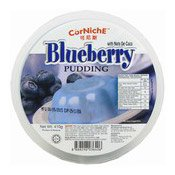 Blueberry Pudding With Nata De Coco (藍梅布甸)