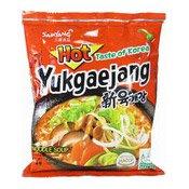 Instant Noodles Yukgaejang (Hot Mushroom) (三養辣香菇麵)