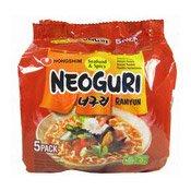 Neoguri Ramyun (Seafood & Spicy - 5 pack) (農心辣味烏冬麵)