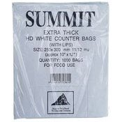HD White Counter Bags (Extra Thick) (With Lips) (白膠袋)