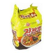 Instant Noodles Multipack Jin Jjambbong Ramen (Spicy Seafood) (辣海鮮真拉麵)