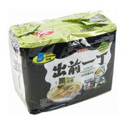 Instant Noodles Multipack (Black Garlic Oil & Artificial Pork) (出前一丁黑蒜油豬骨麵)