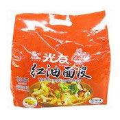 Instant Noodles Multipack Hot Dumpling Pastry (Sour Hot Flavour) (光友红油麵皮酸辣味)