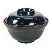 Plastic Noodle Bowl (Red & Black) (日式麵碗連蓋)