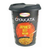 Oyakata Instant Cup Noodles (Japanese Beef Wasabi) (親方芥抹牛肉炒麵)