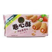 Crisp Cookies Strawberry Flavour Roll (徐福記草莓卷心酥)