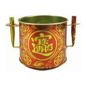 Red & Gold Joss Pot (Medium Censer) (鐵香爐 (中))
