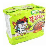 Hot Chicken Ramen Instant Noodles Multipack (Jjajang) (三養炸醬辣雞拉麵)