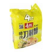 Laksa Flavour Sliced Instant Noodles Multipack (壽桃叻沙刀削麵)
