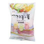 Fruit Mochi Rice Cakes (Strawberry, Orange, Melon) (皇族羽三重之菓)