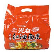 Instant Spicy Wide Noodles Multipack (Sour Hot) (光友红油麵皮酸辣味)