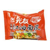 Instant Spicy Wide Noodles (Sour Hot) (光友紅油麵皮)