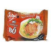 Instant Noodles (Beef Mi Huong Vi Bo) (味王牛肉麵)