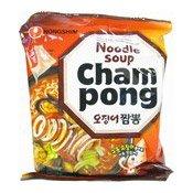 Instant Noodles Cham-Pong Ramyun (農心雜錦海鮮辣麵)