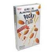 Pocky Almond Crush Chocolate Biscuit Sticks (White) (香草牛奶杏仁脆百力滋)