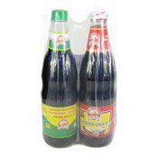 Seasoning Sauce & Oyster Sauce Twin Pack (金山生抽蚝油優恵裝)