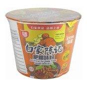 Instant Bowl Vermicelli Noodles (Artificial Fei-Chang Flavour) (白家辣味肥腸粉絲)