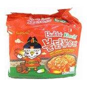 Hot Chicken Ramen Instant Noodles Multipack (Buldak Kimchi) (三養香辣雞味泡菜麵)
