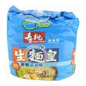 Instant Noodles King Thin Multipack (Wonton Soup) (壽桃生麵王 (雲吞))