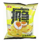 Salted Egg Yolk flavour Potato Chips (Crisps) (上好佳咸蛋黃薯片)