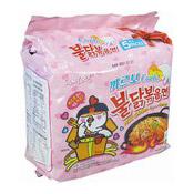 Hot Chicken Ramen Instant Noodles Multipack (Carbo) (三養卡邦尼辣雞拉麵)