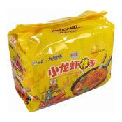 Instant Noodles Multipack (Artificial Crawfish Stir Fried Noodle) (白象小龍蝦湯麵)