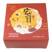 White Lotus Seed Paste Single Yolk Mooncake (單黃白蓮蓉月餅)