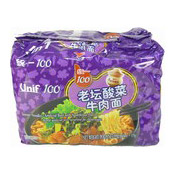 Instant Noodles Multipack (Beef With Sauerkraut) (統一老壇酸菜牛肉麵)