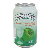 Young Coconut Water With Coconut Pulps (椰青水)
