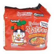 Hot Chicken Ramen Instant Noodles Multipack (Tomato Pasta) (三養香辣雞番茄味拉麵)