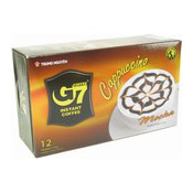 G7 Instant Coffee Cappuccino Mocha (12 Packets) (朱古力泡沫咖啡)